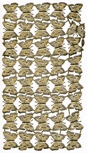 40 goldene Schmetterlinge Papier geprägt