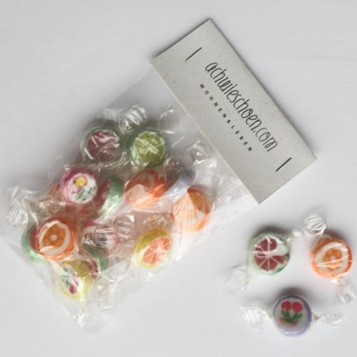 handgemachte Bonbons Motiv Sommer Blumen/Früchte 100gr