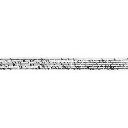 Satinband vintage Schrift creme Rolle 8m x 10mm