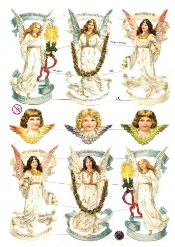 Glanzbilder himmlische Engel glitzernd