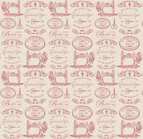Geschenkpapier Sewing Labels rosa