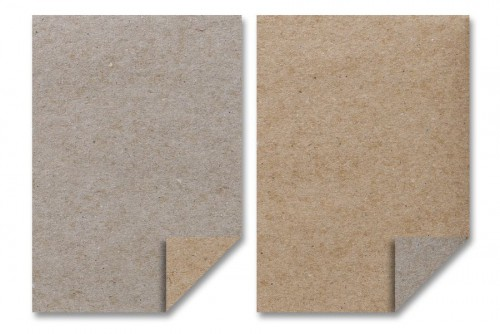 10 Briefbögen A4 Kraftpapier 100gr braun grau