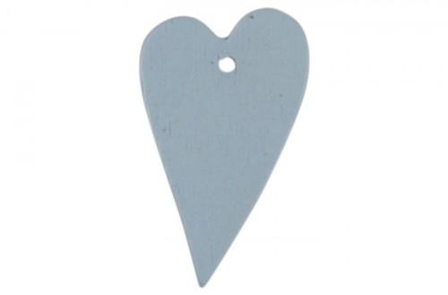 4 Stk Geschenkanhänger Herz hellblau
