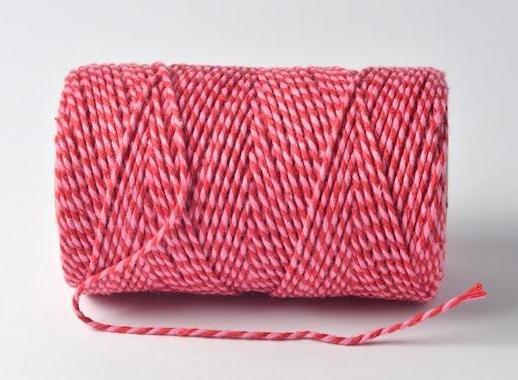 Bakerstwine Garn rosa rot 20m