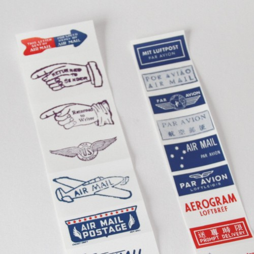 vintage Airmail Label Sticker