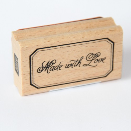 "Stempel ""Made with Love"" Label"
