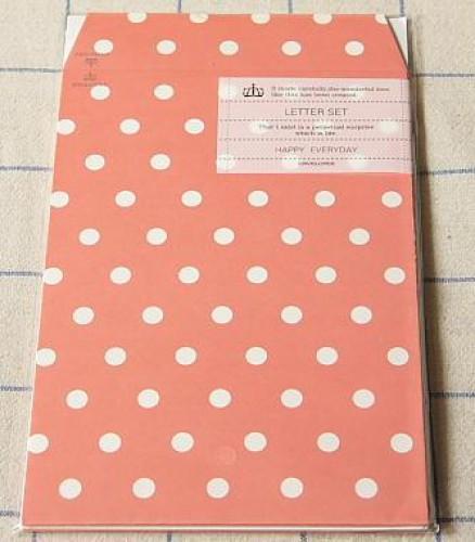Briefpapier Polka Dots rot weiss gepunktet