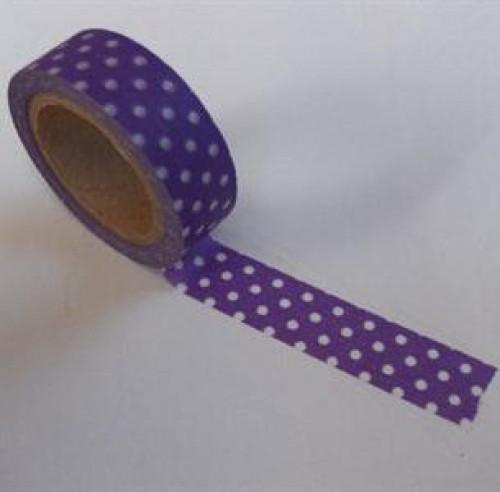 Washi Masking Tape flieder lila weiss Punkte