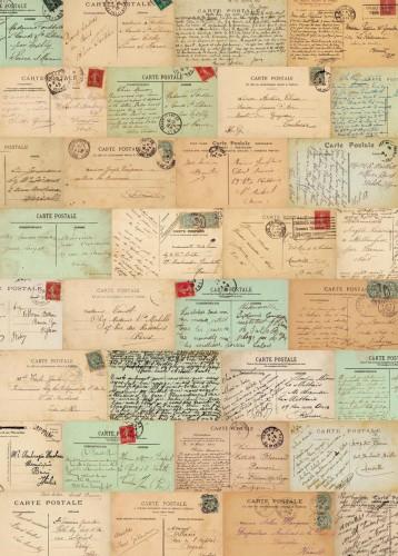 Geschenkpapier Paris Postcards 3 Bögen