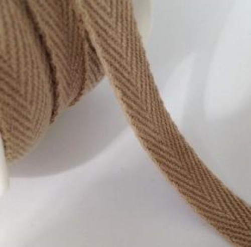 Twill Band Fischgrätmuster taupe 9mm