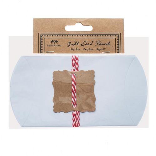 3 Kissenschachteln Pillow Box inkl. Anhängern Bakerstwine