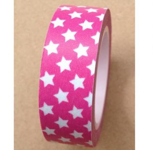 Masking Tape kleine Sterne pink