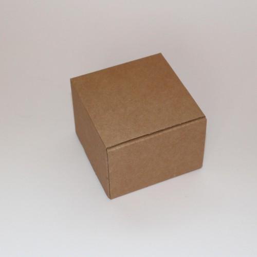 4 Faltschachteln quadratisch Kraft Wellpappe 8x8x6cm