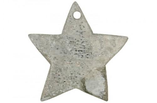 4 Geschenkanhänger Stern aus Zink