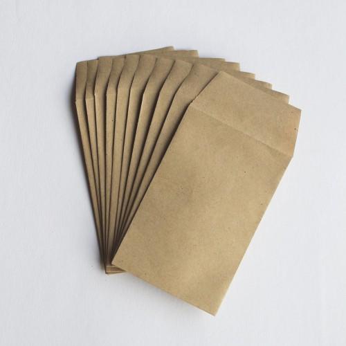 kleine vintage Mini-Briefumschläge aus braunem Kraftpapier 10 Stk