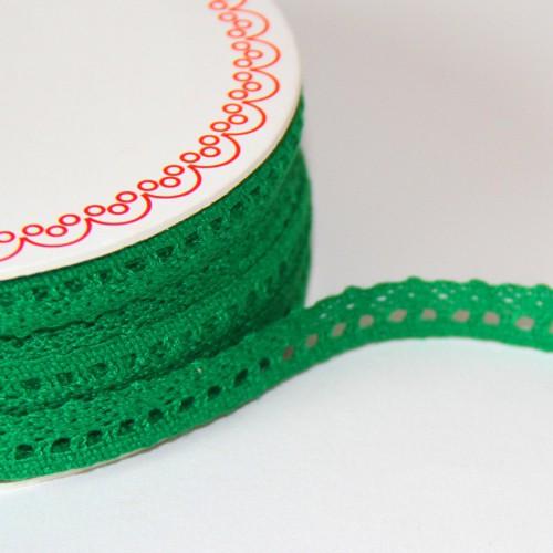 Spitzenband grün 10mm
