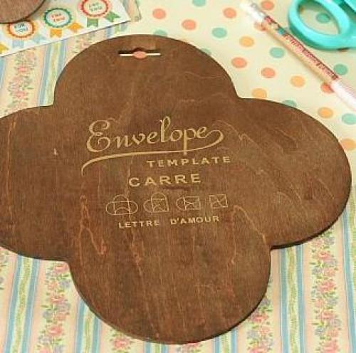 Holzschablone für kleinen Umschlag Verpackung Carré