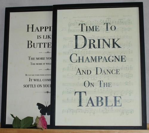 Bild Schild TIME TO DRINK CHAMPAGNE vintage