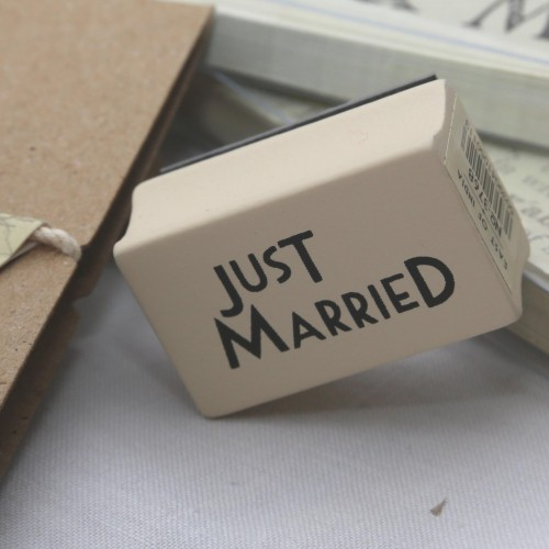 kleiner Stempel JUST MARRIED
