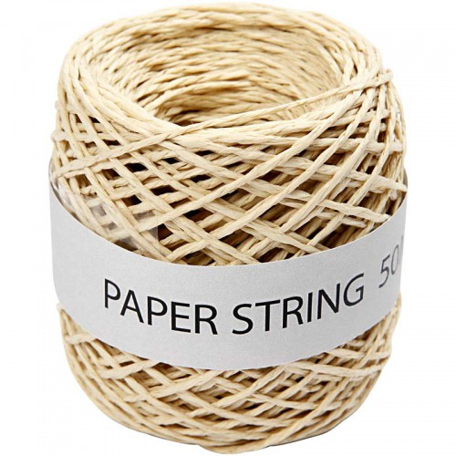 Rolle Papierkordel creme 50 Meter