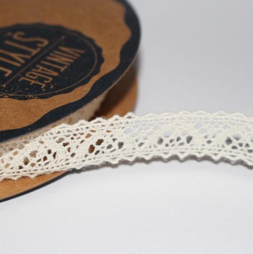 Spitzenband creme 15mm