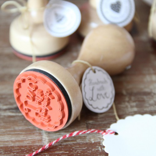 runder Stempel 'Handmade with Love'