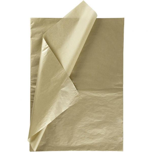 25 Bögen Seidenpapier gold