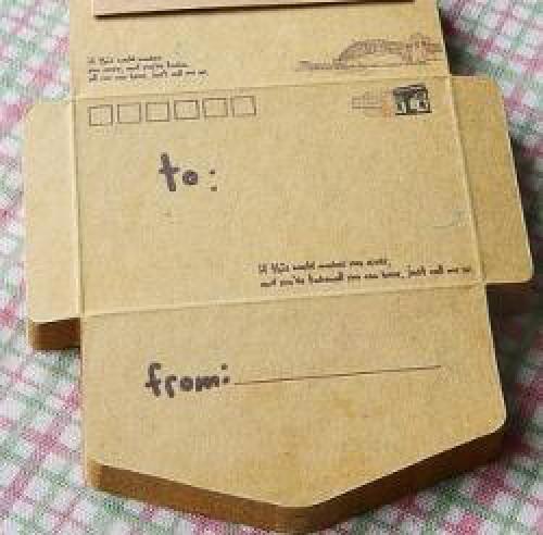 50er Block vintage Kraftpapier Briefumschläge Travel