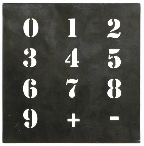 Zink Schablone Nummern Zahlen klein