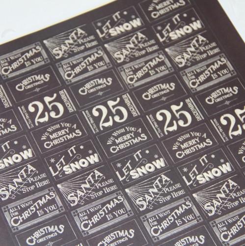 Stickerbogen vintage Weihnachten Kraft 70 Stk