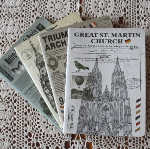 Notizheft vintage blanko ST. MARTIN CHURCH Köln