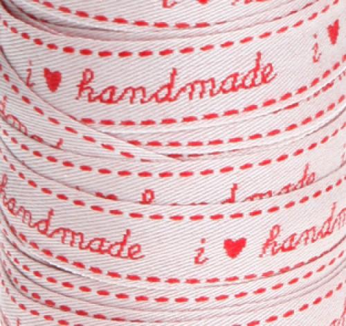 "Webband ""I love handmade"" 15mm"