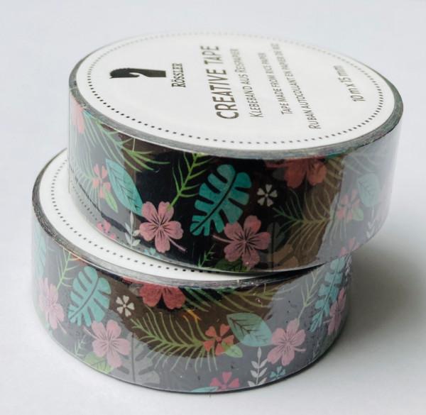 Masking Washi Tape - Blumen Tropen