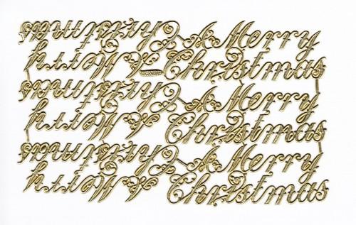 goldene Ornamente Bogen Weihnachten Merry Christmas