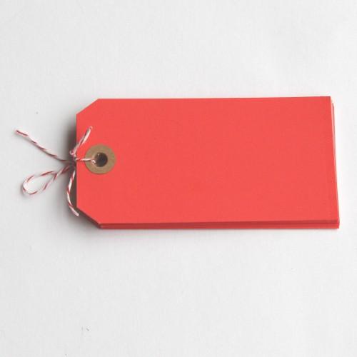 Paketanhänger neon-rot 10 Stk groß