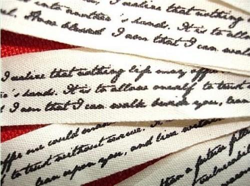 Dekoband alte Handschrift Script