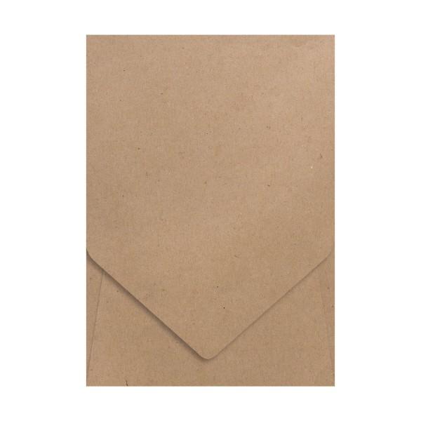 5 Aufklapp-Karten B6 Kraft Kuvert