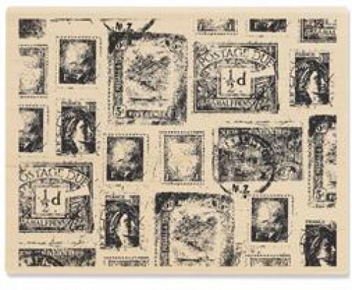 Stempel Collage alte Briefmarken