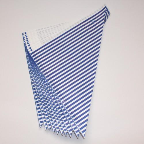10 Spitztüten blau weiss gestreift Streifen Gr. M