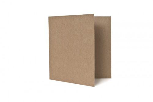 5 Klappkarten & Umschläge quadr. Kraftpapier braun