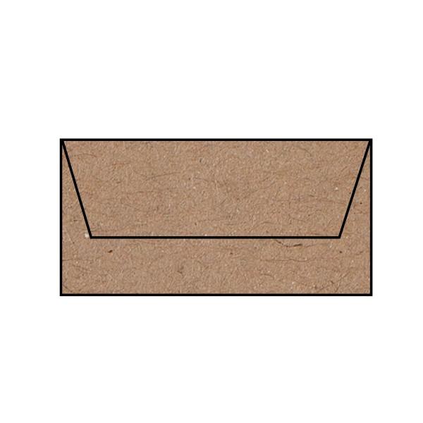 5 Briefumschläge DL Kraft Kuverts