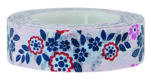 Masking Tape Blumen rosa