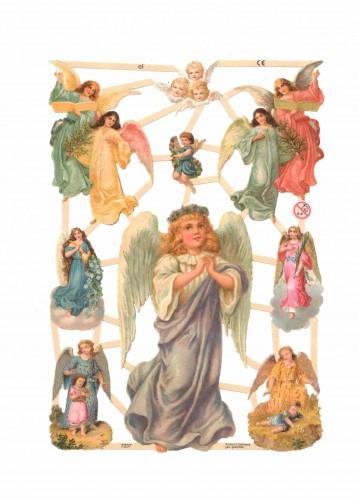 "Glanzbilder ""Engel"" Bogen Nr. 03 Oblaten"