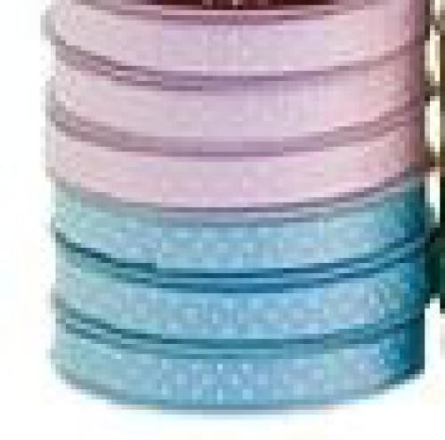 Schleifenband Rips hellblau weiss Punkte