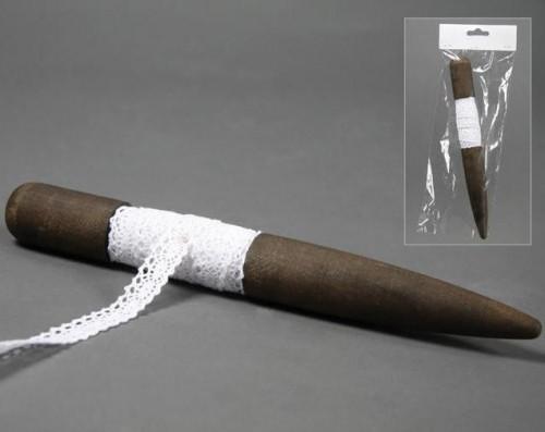Spindel Spitzenband 2cm weiss 3m