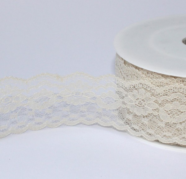 creme Spitze 37mm Polyester