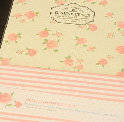 Briefpapier Romantik Reminiscence Rosen Streifen