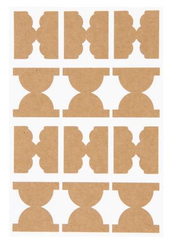 48 Kraftpapier Aufkleber Register Seitenmarker