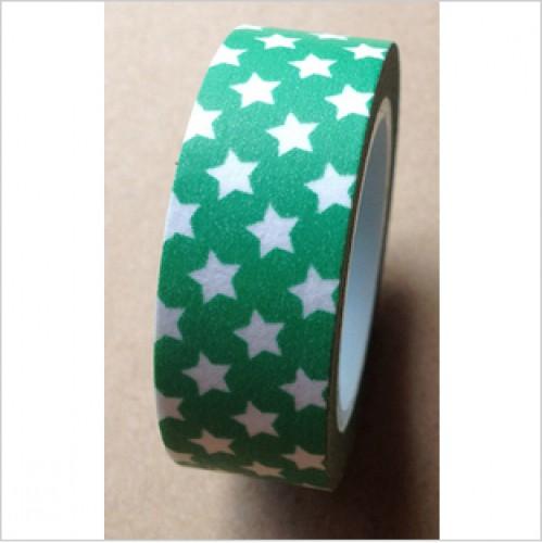 Masking Tape kleine Sterne grün