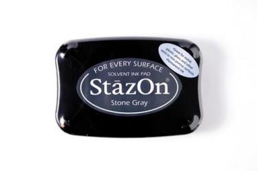 Permanent Stempelkissen StazOn dunkel-grau